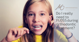 floss during orthodontic treatment, flossing with braces